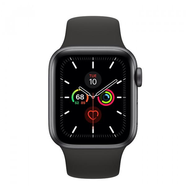 ساعت هوشمند اپل واچ سری 5 سایز 44 رنگ خاکستری با بند مشکی