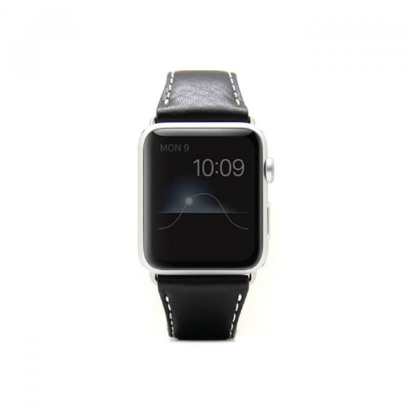 Apple watch 38mm Leather strap SLG D6 black