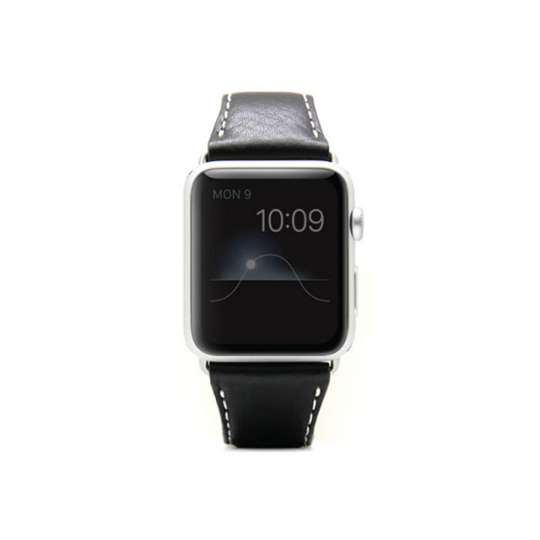 Apple watch 42mm leather strap SLG D6 Black