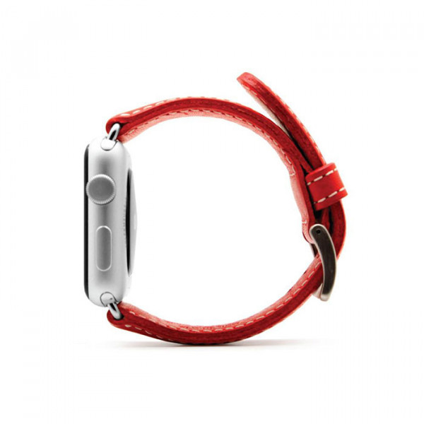 بند چرمی اپل واچ SLG D6 42mm قرمز