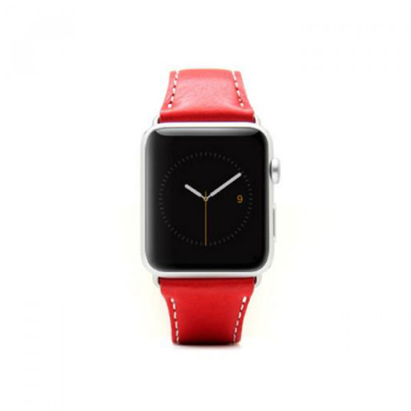 Apple watch 42mm leather strap SLG D6 Red