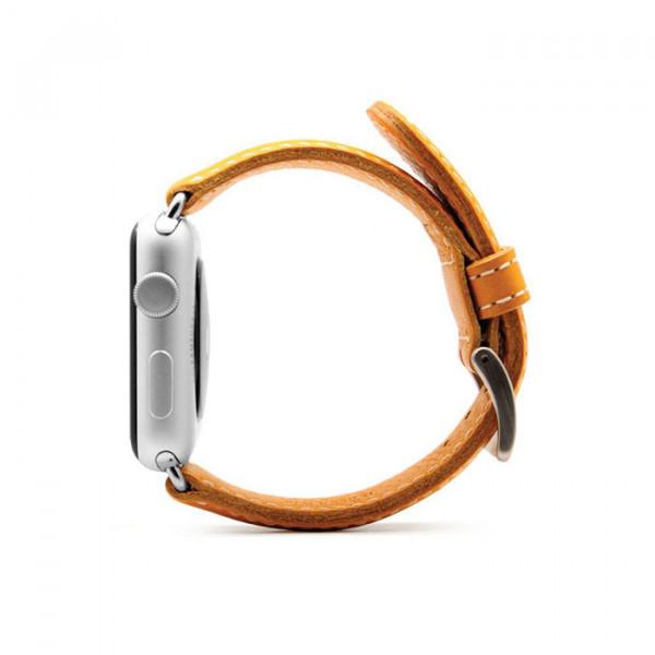 بند چرمی اپل واچ SLG D6 42mm زرد