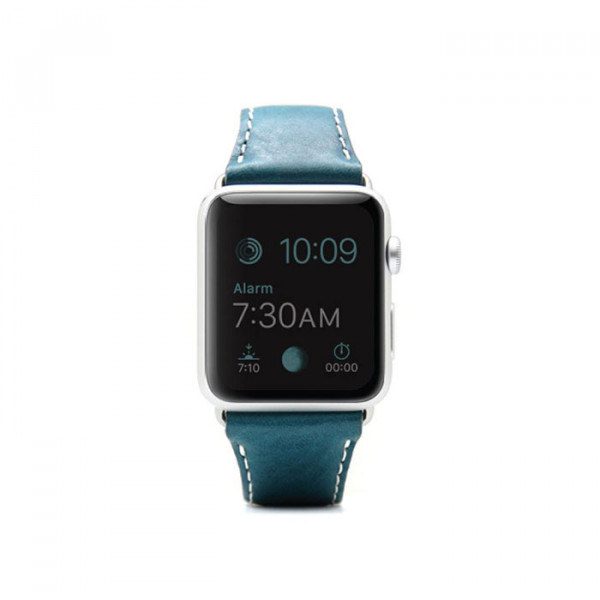 Apple watch 42mm leather strap SLG D6 Blue