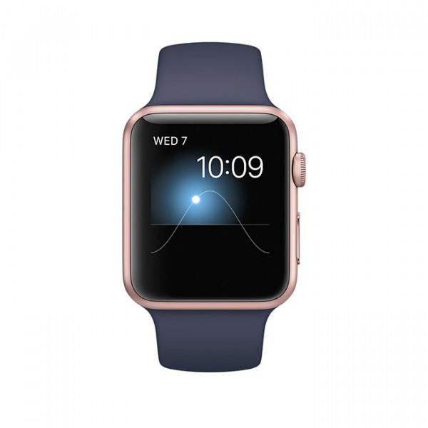 ساعت هوشمند اپل واچ سری 1 سایز 42 میلیمتر رنگ رزگلد با بند اسپرت سرمهای