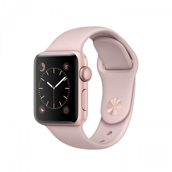 ساعت هوشمند سری 2 سایز 42 میلیمتر رزگلد اپل با بند صورتی
