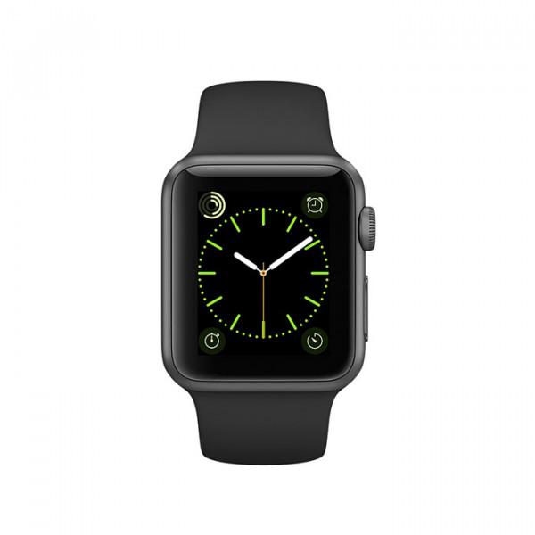 ساعت هوشمند اپل واچ سری 1 سایز 38 میلیمتر رنگ خاکستری با بند مشکی