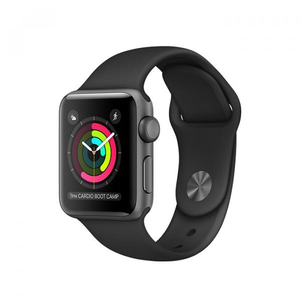 ساعت هوشمند اپل واچ سایز 38 میلیمتر رنگ خاکستری با بند مشکی