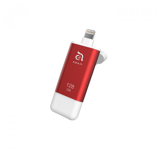 Flash Drive  128GB  Adam Elements iKlips II red