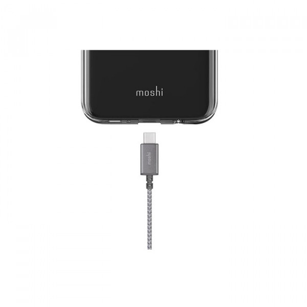 کابل Moshi  Integra  USB-C to USB-A Titanium Gray
