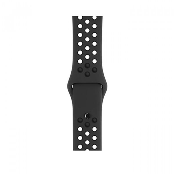 ساعت هوشمند اپل واچ سری 3 نایک پلاس سایز 38 میلیمتر رنگ خاکستری با بند مشکی