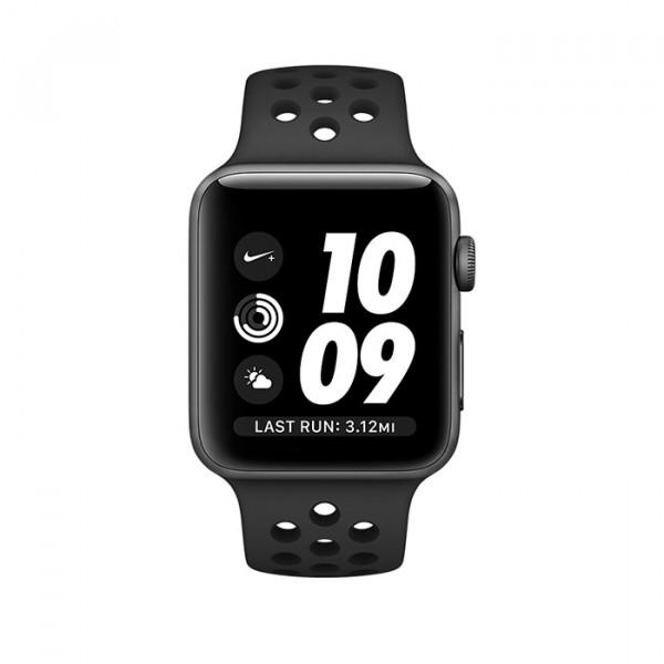ساعت هوشمند اپل واچ نایک پلاس سری 2 سایز 38 میلی متر رنگ خاکستری با بند مشکی