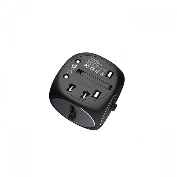 Adam Elements Travel Adapter Black Grey