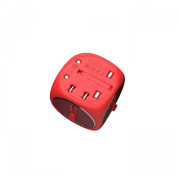 Adam Elements Travel Adapter Red Red