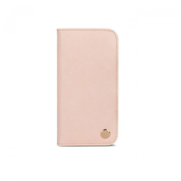 Leather Wallet Moshi Overture for iPhone X pink