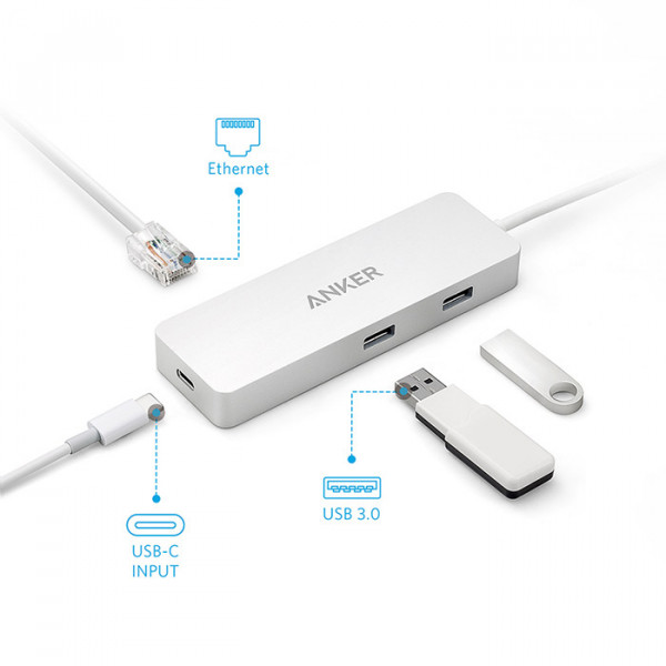Anker hub with ethernet