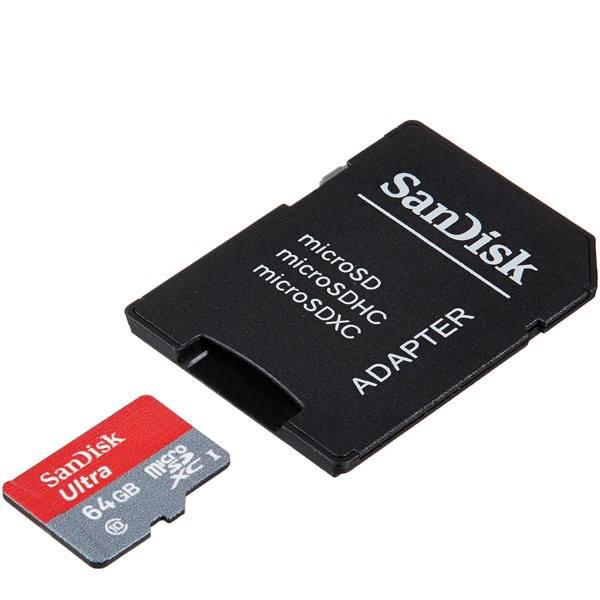 کارت حافظه مدل Ultra A1 UHS-I Class 10 98MBps سان دیسک با ظرفیت 64 گیگابایت