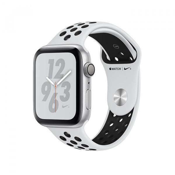 ساعت هوشمند سری 4 سایز 40 میلیمتر نقرهای اپل با بند طوسی