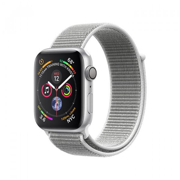ساعت هوشمند سری 4 سایز 44 میلیمتر نقرهای اپل با بند لوپ