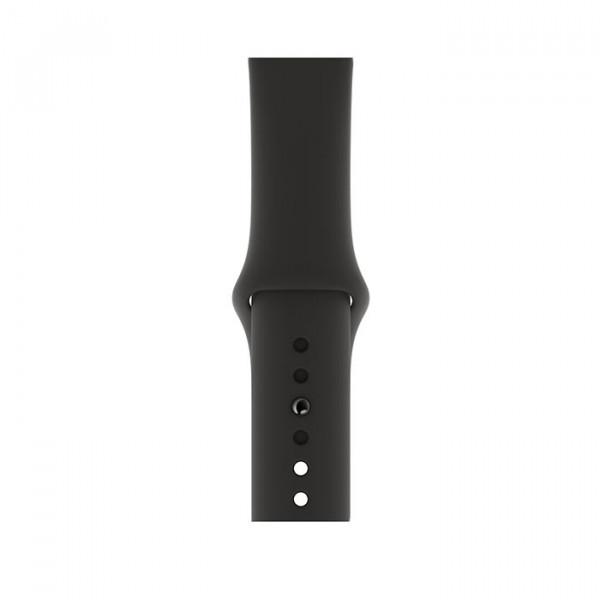ساعت هوشمند اپل واچ سری 4 سایز 40 میلیمتر رنگ طوسی با بند مشکی