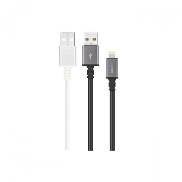 Moshi USB Cable With Lightning Black & White