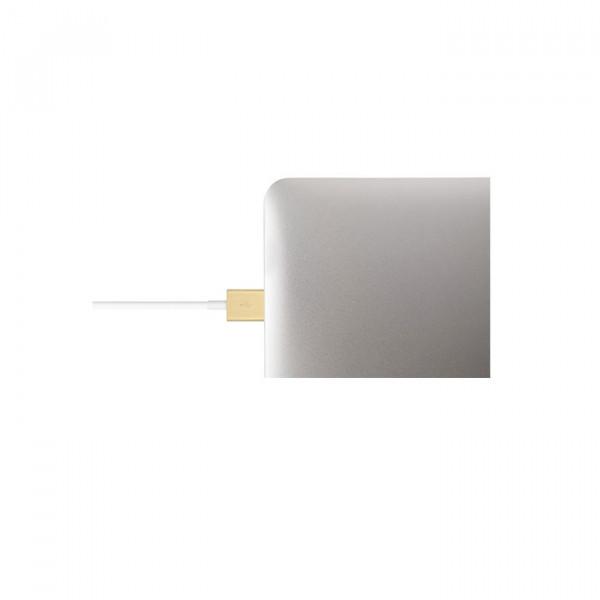 کابل موشی USB With Lightning گلد
