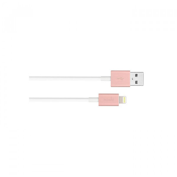 USB Cable With Lightning rose gold