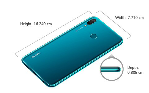 Huawei Y9 2019 Dimensions